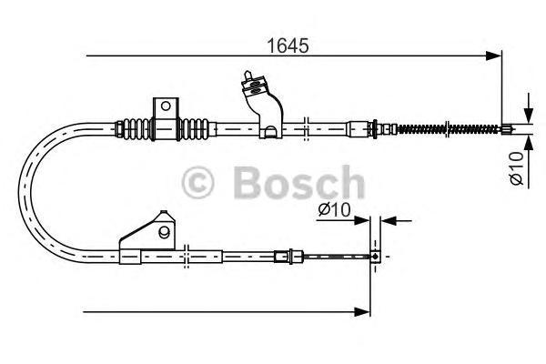Трос ручного тормоза BOSCH 1987482275 MMC OUTLANDER 07-/PEUGEOT 4007 R
