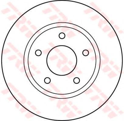 Диск тормозной передний MITSUBISHI LANCER (CY/Z_A) DF4933