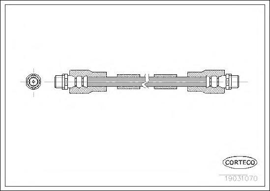 Тормозной шланг передний [360mm] [360mm]