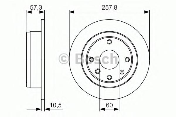 Тормозной диск задний 0986479985
