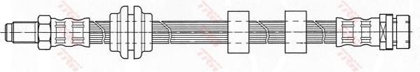 Шланг тормозной передний FORD FOCUS I PHB432