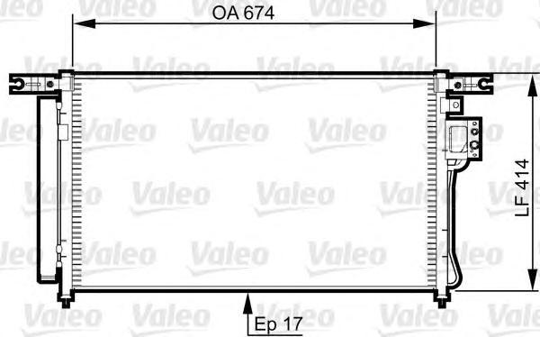 Радиатор кондиционера HYUNDAI: SANTA FE (CM) 2.2 CRDI/2.2 CRDI 4X4/2.2 CRDI GLS/2.2 CRDI GLS 4X4/2.7/2.7 4X4/2.7 V6 GLS/2.7 V6 GLS 4X4 06-