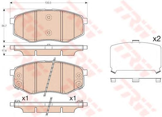 Колодки тормозные TRW GDB3553 Sportage/Sonata 10-