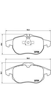 Колодки тормозные OPEL SIGNUM 03>/VECTRA C 1.6-3.0/ASTRA H VXR передние