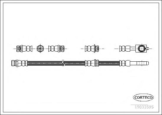 Шланг тормозной AUDI: A3 1.6/1.6 FSI/1.9 TDI/2.0 FSI/2.0 TDI/2.0 TDI 16V/2.0 TDI 16V quattro/2.0 TDI quattro/2.0 TFSI/2.0 TFSI quattro/3.2 V6 quattro