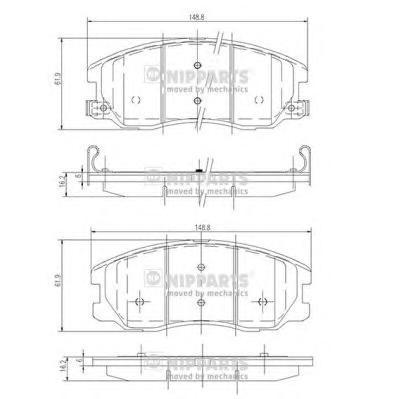 Комплект тормозных колодок J3600913