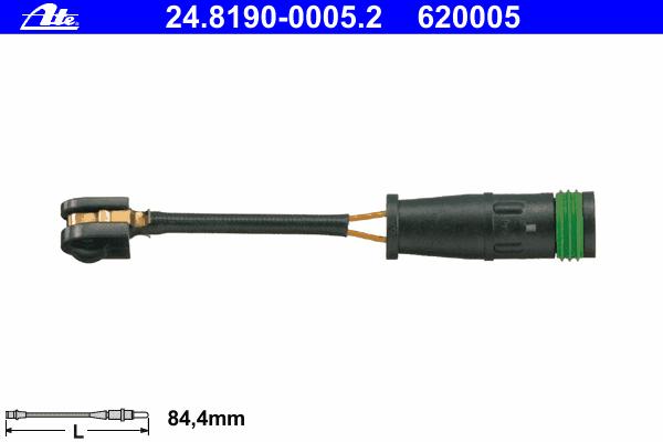 Датчик износа тормозных колодок MB: SPRINTER 4,6-t 06-, SPRINTER 4,6-t 06-, SPRINTER 5-t 06-, SPRINTER CLASSIC 4,6-t 13- \ VW: CRAFTER 30-35 06-, CRAFTER 30-50 06-