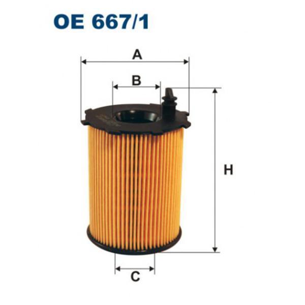 Фильтр масляный OE667/1