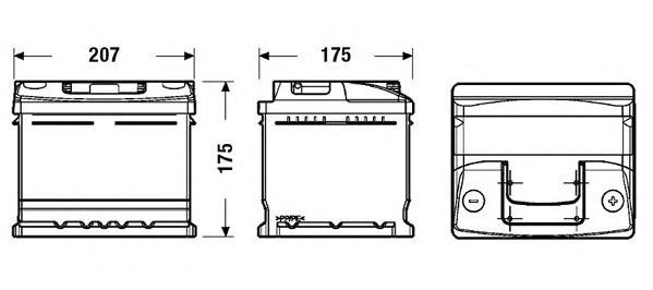 Аккумуляторная батарея 41Ah DETA STANDARD 12 V 41 AH 370 A ETN 0(R+) B13 207x175x175mm 11kg