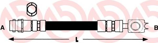 Тормозной шланг пер.(L435MM) A3, OCTAVIA, BORA,