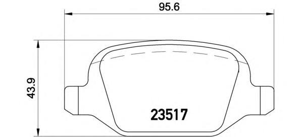 Колодки тормозные P23065