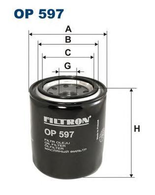 Фильтр масляный OP597