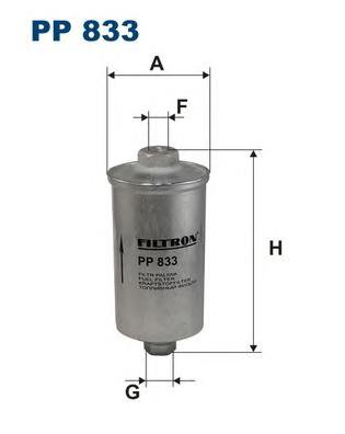 Фильтр топливный FILTRON PP833 Citroen Jumper 2, 0L / 94-02 & Peugeot Boxer 2, 0L 94->