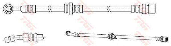 Шланг тормозной передн правый CHEVROLET LACETTI PHD1017