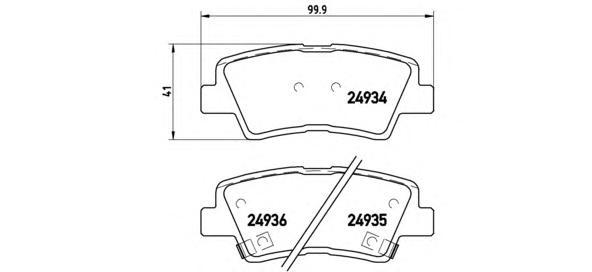 Колодки тормозные HYUNDAI SOLARIS 10-/SONATA V (NF) 05-/KIA SOUL 09- задние