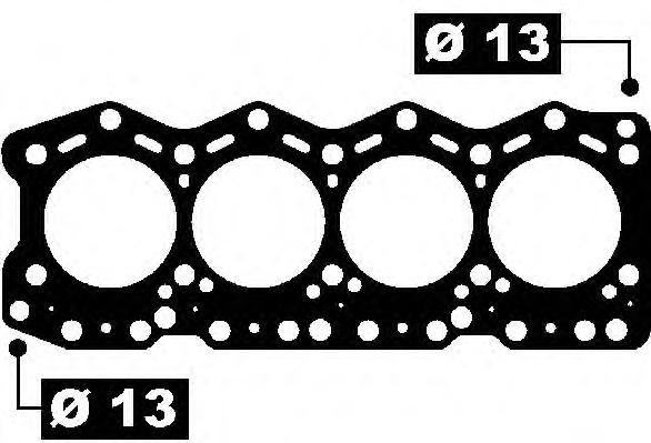 Прокладка ГБЦ FIAT: DUCATO Panorama 2.5 D/2.5 D 4x4 90-94, DUCATO c бортовой платформой 2.5 D/2.5 D 4x4 94-02, DUCATO c бортовой платформой 2.5 D/2.5