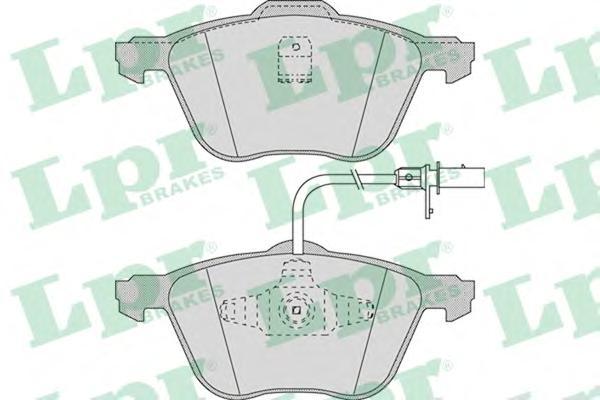 Комплект тормозных колодок 05P971