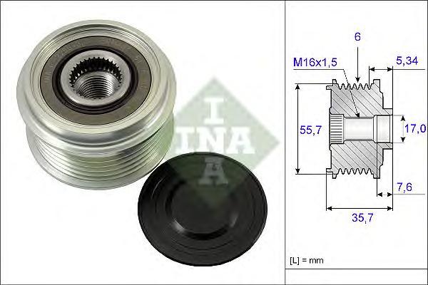 Шкив генератора MERCEDES VITO (638) 108D, 110TD 2,3 535007710
