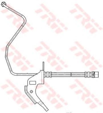 Шланг тормозной TRW PHD563 OPEL ASTRA H задн L (для задн бараб)