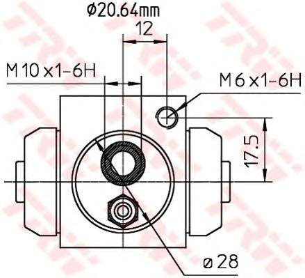 Цилиндр колесный OPEL VECTRA B, ASTRA H BWF309