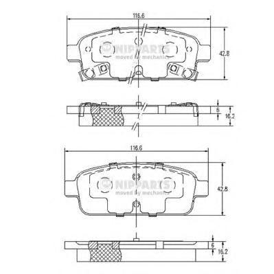 Комплект тормозных колодок N3610906