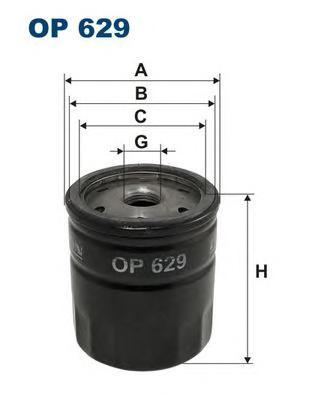 Фильтр масляный OP629