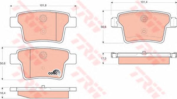 Колодки задние FORD MONDEO III 9/04- GDB1665