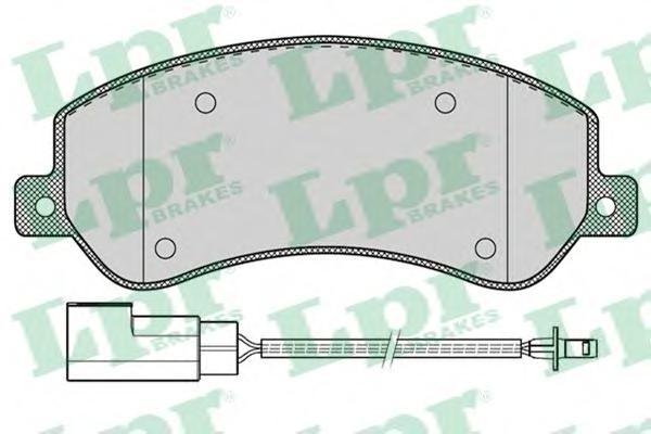 Комплект тормозных колодок 05P1260