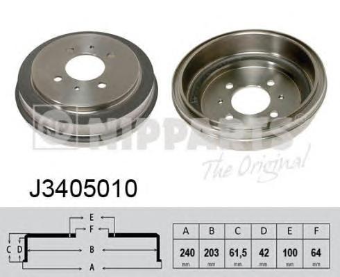 Барабан тормозной NIPPARTS J3405010 MMC