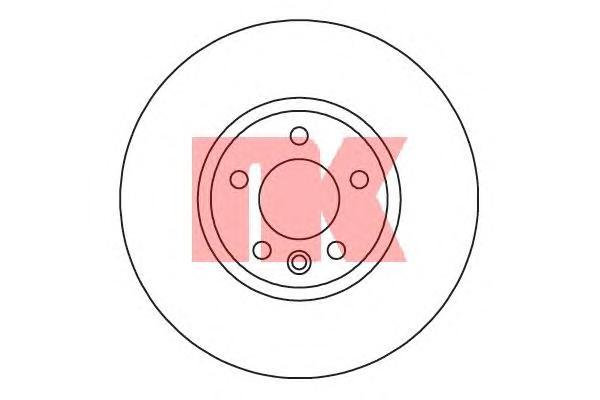 Диск тормозной передний / VW Transporter T-5 (32,1x340) 09~