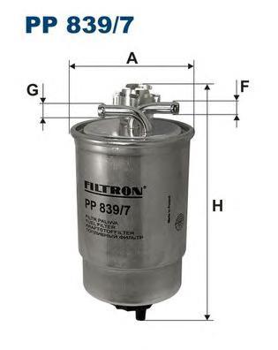 Фильтр топливный FILTRON PP 839/7