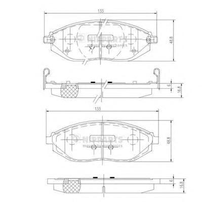 Колодки тормозные NIPPARTS N3600916 SPARK (M300) 10- пер