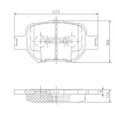 Колодки тормозные NIPPARTS J3602091
