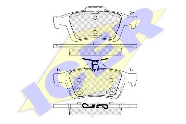 Колодки тормозные ICER 182106 FORD Focus III + скрипуны