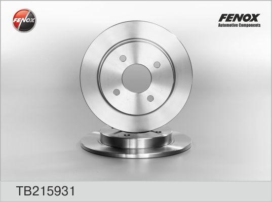 Диск тормозной задний FORD FOCUS 98-04, SIERRA 82-93, SCORPIO II 94-98 TB215931