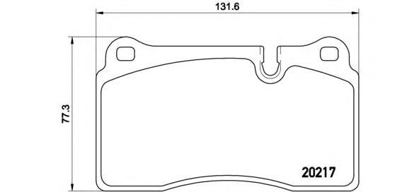 Колодки тормозные P44018