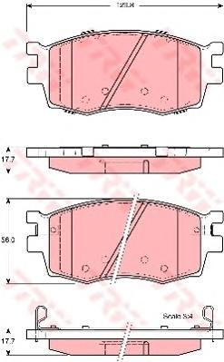 Колодки передние HYUNDAI ACCENT III (MC), I20 (PB), KIA RIO II GDB3420