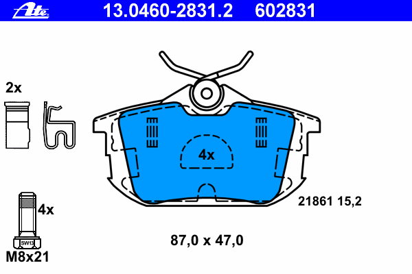 Колодки тормозные дисковые задн, MITSUBISHI: CARISMA 1.6/1.8/1.8 16V/1.8 16V GDI/1.8 GDI/1.9 DI-D/1.9 DI-D 95-06, CARISMA седан 1.3/1.6/1.8/1.8 16V GDI/1.8 GDI/1.9 DI-D/1.9 DI