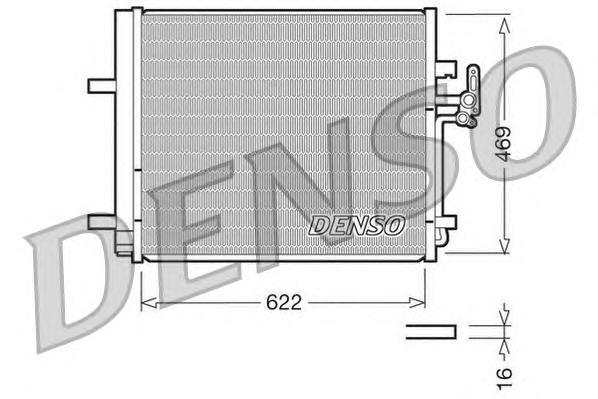 Радиатор кондиционера DCN10016