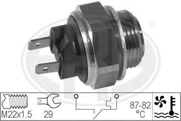 Датчик включения вентилятора SKODA: FAVORIT (781) 1.3 (781)/1.3 135 (781)/1.3 135 X,LX,GLX (781)/1.3 135L (781)/1.3 136 (781) 89-94, FAVORIT Forman (785) 1.3/1.3 (135 E)/1.3