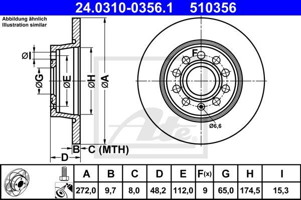 Диск тормозной задн, POWER DISC, AUDI: A1 10-, A3 03-\ SEAT: ALTEA 04-, LEON 05-\ SKODA: OCTAVIA 04-, SUPERB 08-, YETI 09-\ VW: CADDY III 04-, GOLF 08-, TOURAN 03-