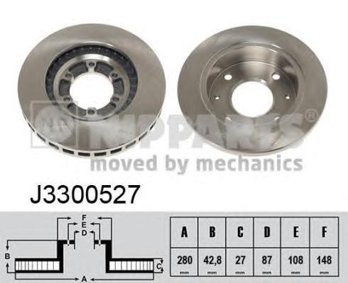 Диск тормозной NIPPARTS J3300527 Hyundai Terracan 280*27