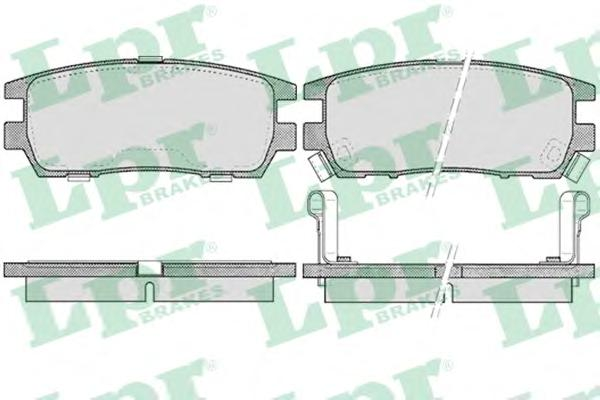 Комплект тормозных колодок 05P518