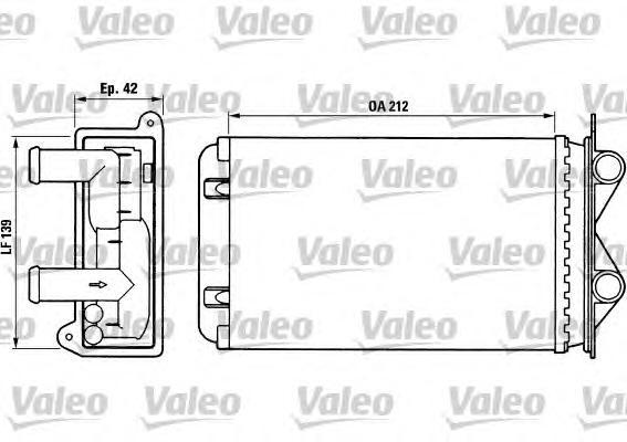 Радиатор печки VALEO 812013 Transporter 212*139*42мм 90-98