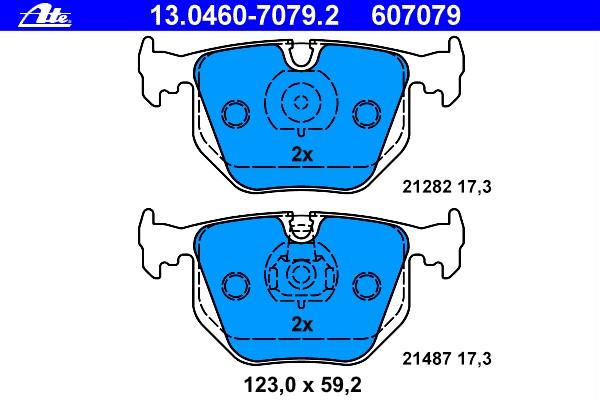 Комплект тормозных колодок дисковые BMW