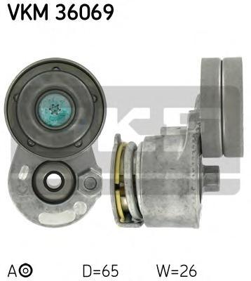 Ролик промежуточный поликлинового ремня генератора Renault 1.9DCI 01