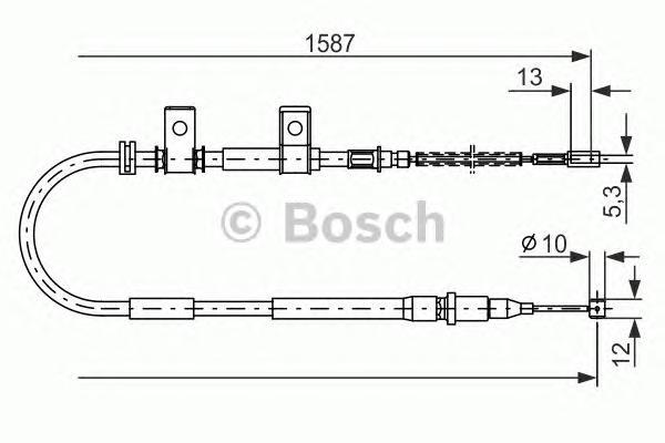 Трос ручного тормоза BOSCH 1987477717 LANOS R