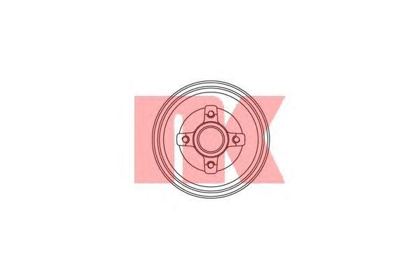 Барабан тормозной со ступицей / OPEL Corsa-C (с ABS)