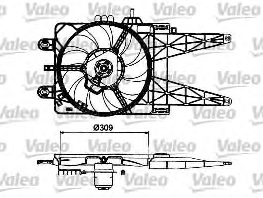 Вентилятор радиатора FIAT: PUNTO II 1.2 99-