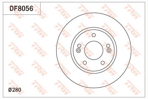"Диск тормозной передний HYUNDAI i30 (GD) 2011- (15"") DF8056"